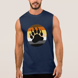 Bear Paw in Bear Pride Circle (large front) Sleeveless Shirt