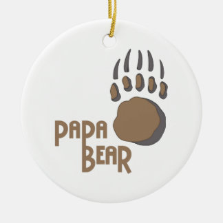 BEAR PAW PAPA CERAMIC ORNAMENT