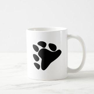 BEAR PAW SYMBOL BLACK COFFEE MUG