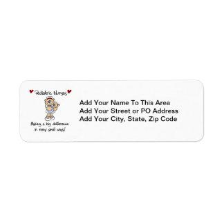 Bear Pediatric Nurses T-shirts and Gifts Return Address Label