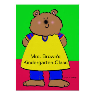 Bear/Personalize/Vera Trembach Poster