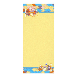 Bear Planes Butterflies Pixel Art Rack Card
