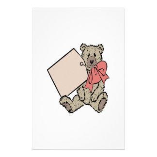 Bear Present Customized Stationery