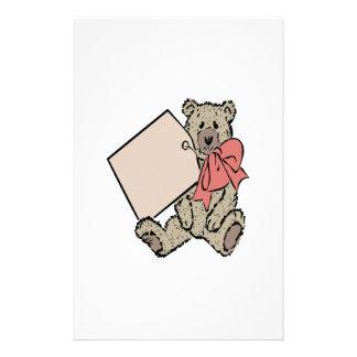 Bear Present Customized Stationery
