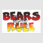 Bear Pride Bears Rule Stickers