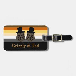 Bear Pride Black & Gold Gay Honeymoon Luggage Tag