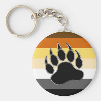 Bear pride Colors BEAR Paw Key Chain