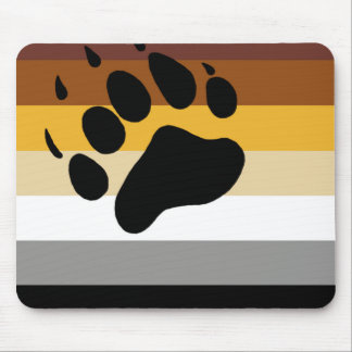 Bear Pride Flag Mouse Pad