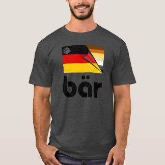 Bear Pride German Flag Bär (Black) T-Shirt