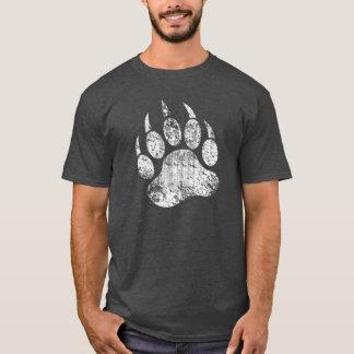 Bear Pride Grunge Bear Paw T-Shirt