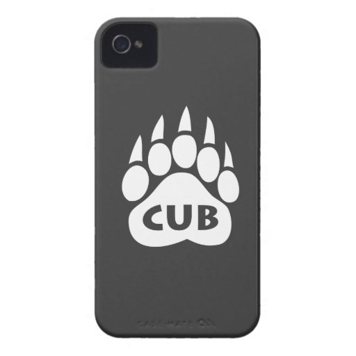 """Bear Pride Paw """"CUB"""" Blackberry Bold Case iPhone 4 Cases"""