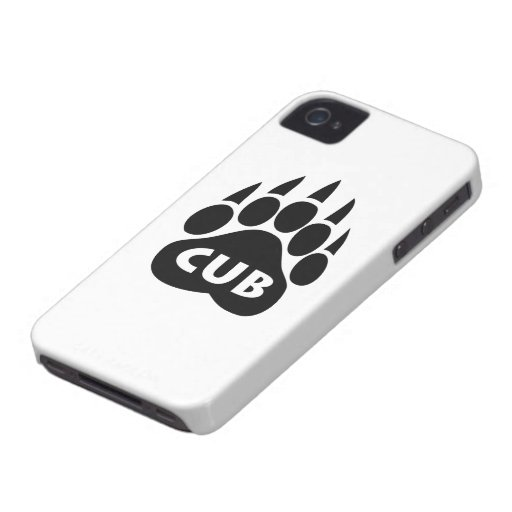"""Bear Pride Paw """"CUB"""" Blackberry Bold Case iPhone 4 Covers"""
