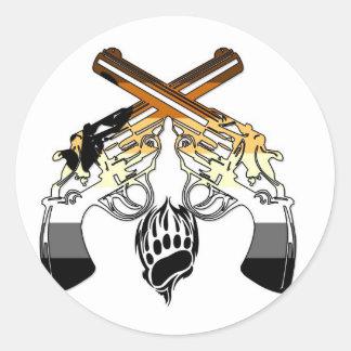 Bear Pride Pistols Classic Round Sticker