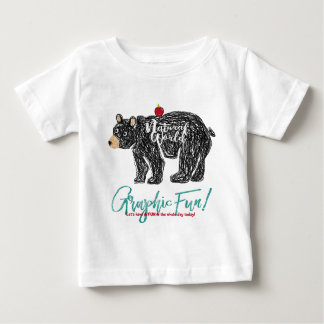 Bear print of the free kind of hand which is drawn baby T-Shirt