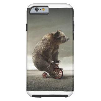 Bear riding cycle tough iPhone 6 case