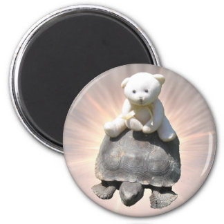 Bear riding Turtle Magnet