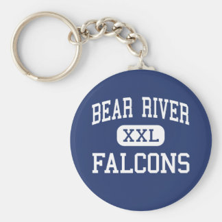 Bear River Falcons Middle Wheatland Basic Round Button Key Ring