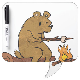 bear roasting marshmallows Dry-Erase board