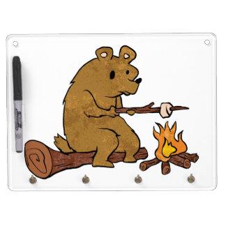 bear roasting marshmallows dry erase whiteboards