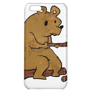 bear roasting marshmallows iPhone 5C cover