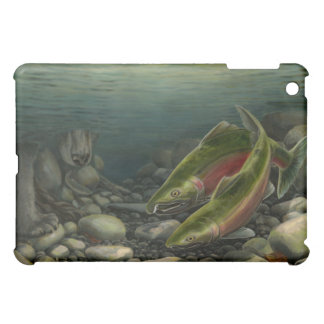 Bear & Salmon Art Ipad Case Wildlife Art Gifts