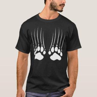 Bear Scratch Paws White T-Shirt