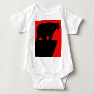 Bear shadow baby bodysuit