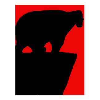 Bear shadow postcard