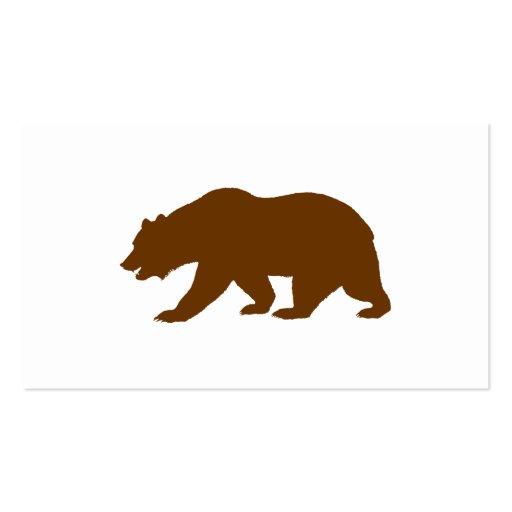 Bear Shape Business Cards