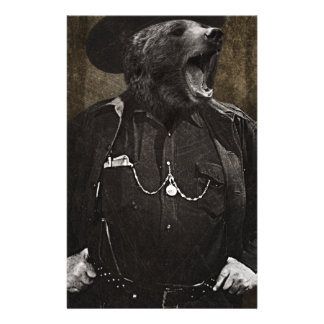 Bear Sheriff Wild Fun Personalised Stationery