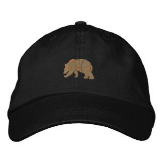 Bear Silhouette Embroidered Baseball Caps