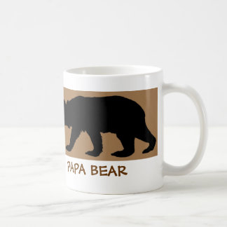 Bear Silhouette Mug reads: PAPA BEAR