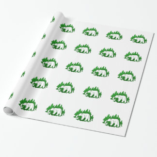 Bear Silhouette Wrapping Paper