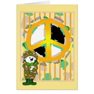 BEAR SOLDIER 5X7 CARTOON NOTE Card