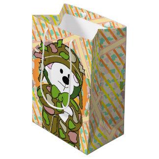 BEAR SOLDIER BAG Gift  MEDIUM GLOSSY