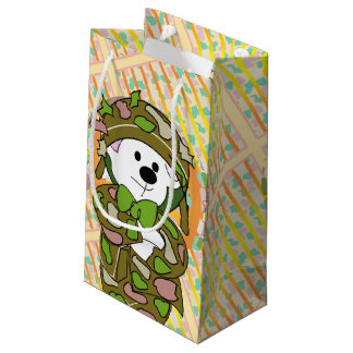 BEAR SOLDIER BAG Gift  SMALL GLOSSY