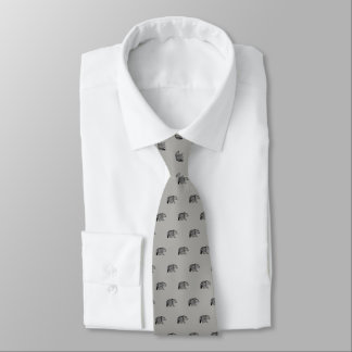 Bear Spirit Gray Tie