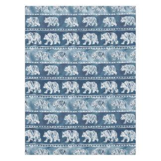 BEAR SPIRIT Navy Boho Tribal Pattern Tablecloth