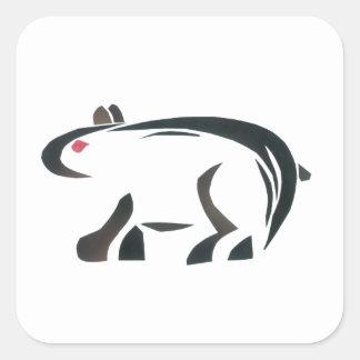 Bear Square Sticker