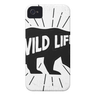 Bear - Stay wild iPhone 4 Cover