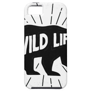 Bear - Stay wild Tough iPhone 5 Case