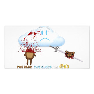 Bear Sword Cloud Picture Card
