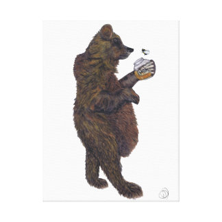 BEAR & THE BUMBLE BEE CANVAS PRINT