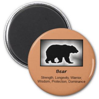 Bear Totem Animal Spirit Meaning 6 Cm Round Magnet