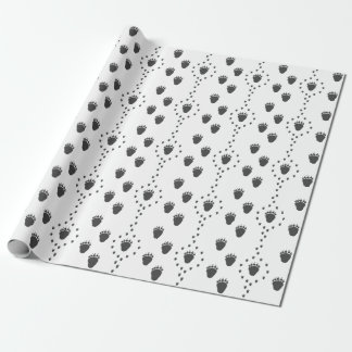 Bear Track Wrapping Paper