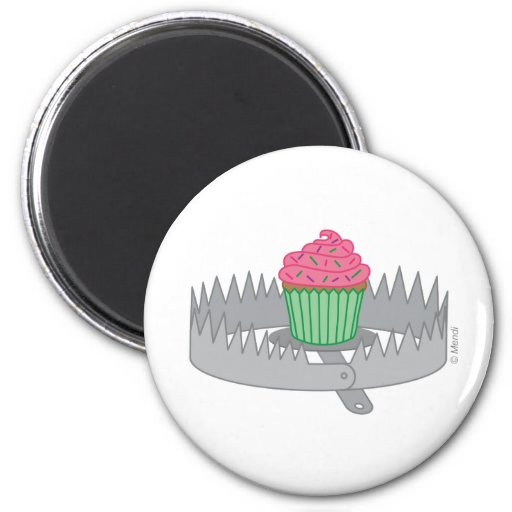 Bear Trap Cupcake Magnets