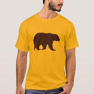 Bear TShirt Brown Silhouette