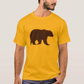 Bear TShirt Brown Silhouette