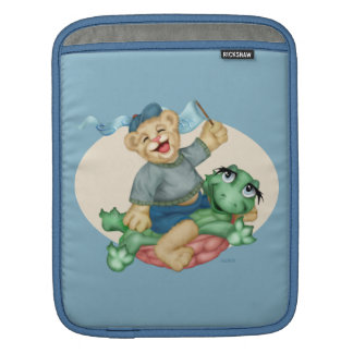 BEAR TURTLE CARTOON iPad iPad Sleeves