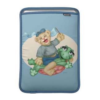 "BEAR TURTLE CARTOON Macbook Air 13"" Sleeve For MacBook Air"